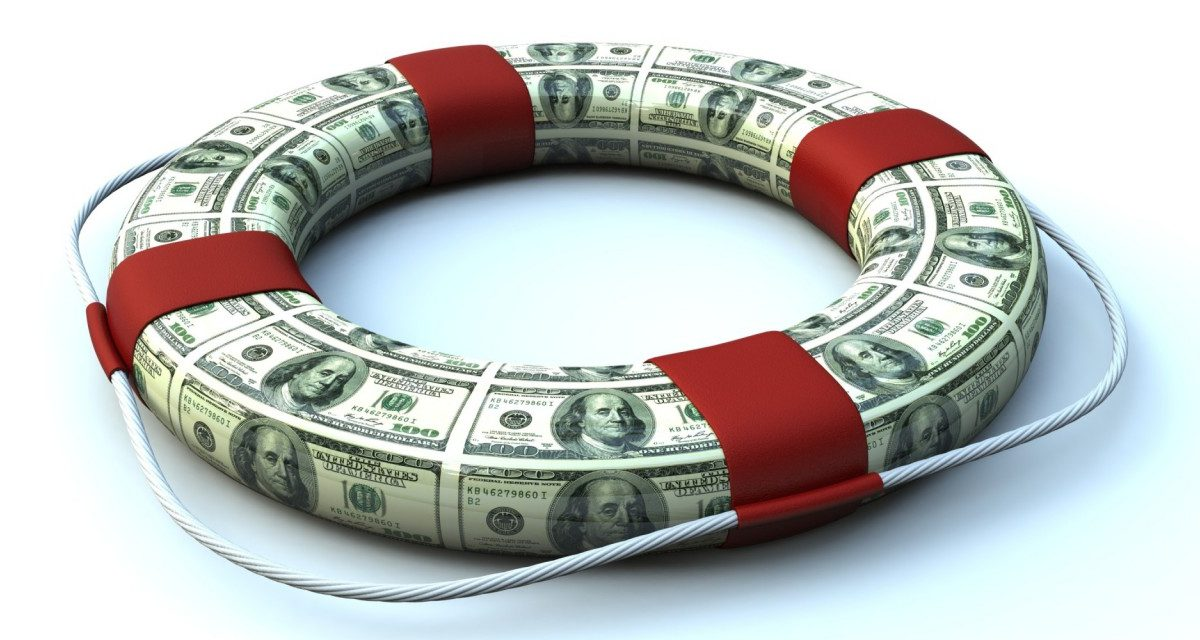 Спасательный круг из долларовых банкнот