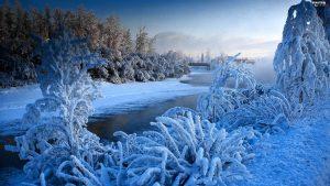 заморозок на речке